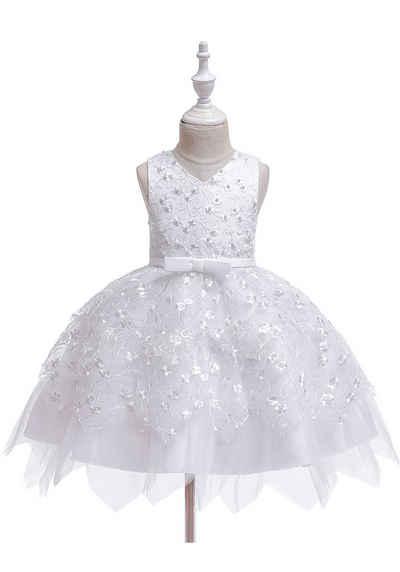 TOPMELON Partykleid »Sommerkleid« Urlaub Kleid, ärmellos, Bestickt, unregelmäßiger Saum