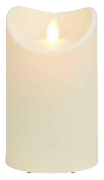 IC HomeDeco LED-Kerze (1-tlg), mit beweglicher Flamme, Ø ca. 8,9 cm, LED-Outdoor Kerze