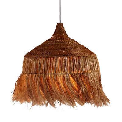 Casa Moro Pendelleuchte »Orientalische Hängeleuchte Manado aus Abaca Hanf handgeflochten mit Baldachin, Kabel und mit einer E27 Lampenfassung, Handmade Naturlampe in Bogo Hygge Stil, INDL2033«