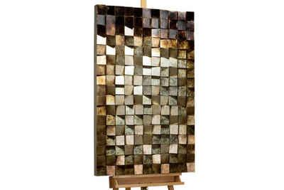 KUNSTLOFT Holzbild »Lied der Felsen«, handgefertiges Wandbild aus Holz