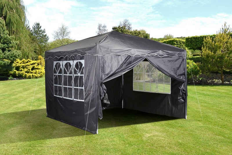 CHILLROI Partyzelt »CHILLROI Faltpavillon 3 m x 3 m grau Partyzelt Gartenzelt Eventzelt«