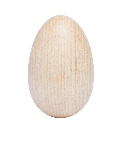 VBS Osterei »Holz-Ei«, oben gebohrt, 40 x 60 mm