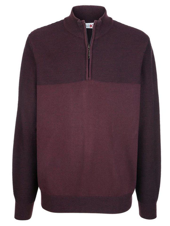 roger kent -  Pullover mit Strickmuster