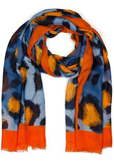styleBREAKER Schal »Schal mit Oversize Leoparden Print« Schal mit Oversize Leoparden Print