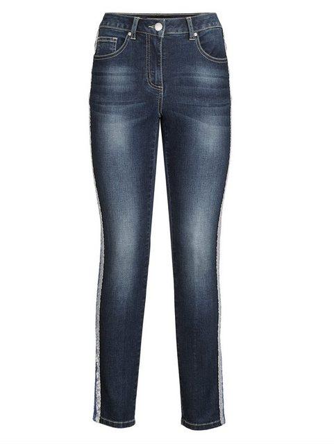 Hosen - Amy Vermont Jeans mit seitlichem Paillettenstreifen › blau  - Onlineshop OTTO