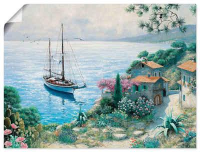 Artland Wandbild »Die Bucht«, Boote & Schiffe (1 Stück), in vielen Größen & Produktarten -Leinwandbild, Poster, Wandaufkleber / Wandtattoo auch für Badezimmer geeignet