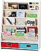 COSTWAY Bücherregal »Hängefächerregal«, Kinder Bücherregal Aufbewahrungsregal Standregal mit Hängefächern, Bild 1