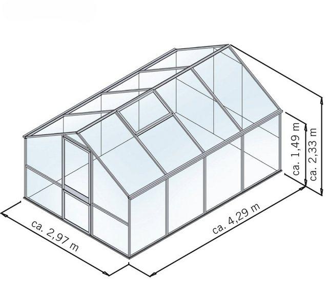 KGT Gewächshaus »Tulpe IV«, BxTxH: 297x429x233 cm   Garten > Gewächshäuser   Grau   KGT