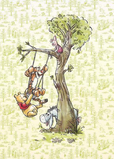 KOMAR Packung: Fototapete »Winnie Pooh in the wood«, aus Vlies