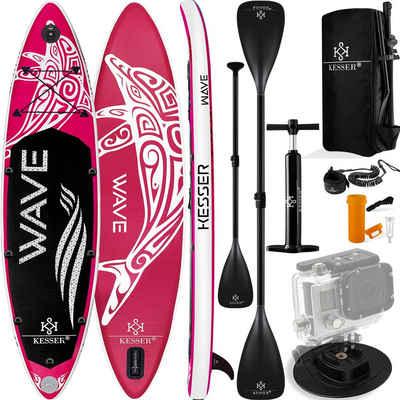 KESSER SUP-Board, Aqua Aufblasbares SUP Board Set Stand Up Paddle Board Premium Surfboard Wassersport 6 Zoll Dick Komplettes Zubehör 130kg