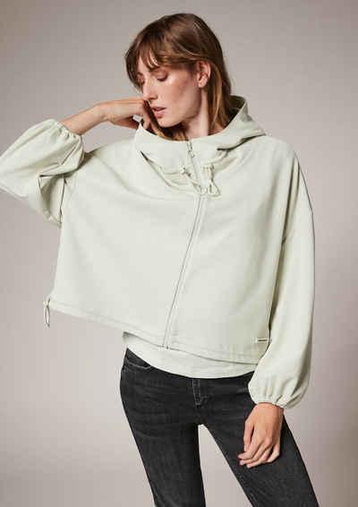 comma casual identity Sweatshirt »Modalmix-Jacke im Loose Fit« (1-tlg)