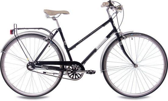 Chrisson Cityrad »Vintage City Lady«, 3 Gang Shimano Nexus SG-3C41 Schaltwerk, Nabenschaltung, (1-tlg)
