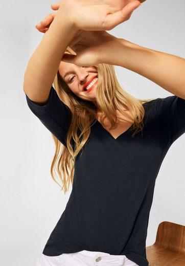 STREET ONE 3/4-Arm-Shirt aus softem Materialmix