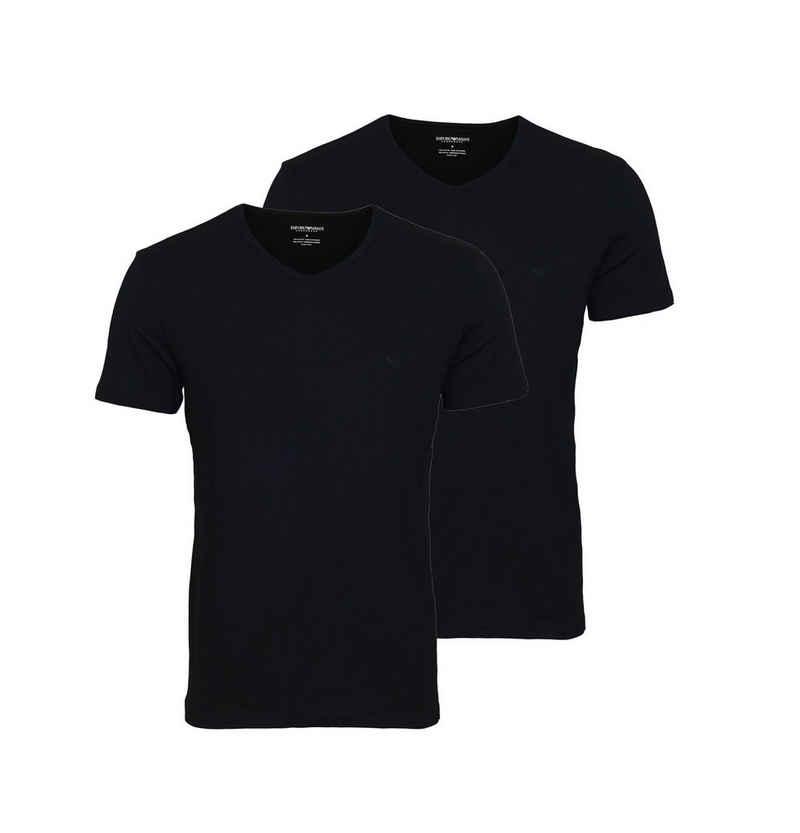 Emporio Armani T-Shirt »V-Ausschnitt mit Eagle-Logo« (2er-Pack)