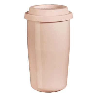 ASA SELECTION Thermobecher »cup & go rose 350 ml«, Porzellan