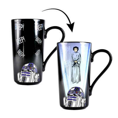 Star Wars Tasse »Star Wars Thermo Latte Macchiato Becher Leia/R2-D«