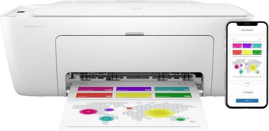 HP DeskJet 2720 All in One Printer Multifunktionsdrucker, (WLAN (Wi-Fi), Bluetooth)