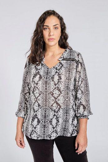 SPGWOMAN Shirtbluse »Bluse mit Schlangenmuster«
