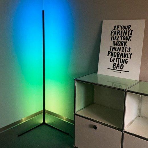 KOKA Stehlampe »LED Ecklampe Steh-Lampe Wand-Leuchte Decken-Fluter«, Wohnzimmer Stand-Leuchte RGB