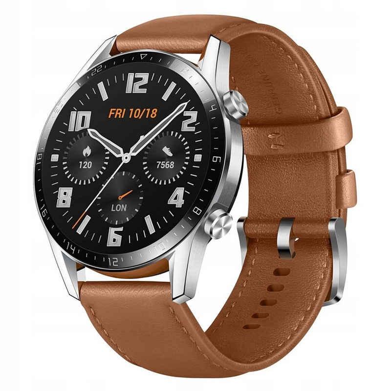 Huawei Huawei Watch GT 2 Classic Smartwatch (3,53 cm/1,39 Zoll, RTOS), 24 Monate Herstellergarantie Smartwatch (3.53 cm/1.39 Zoll), 24 Monate Herstellergarantie