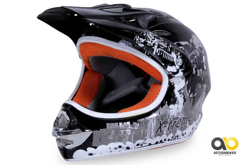 Actionbikes Motors Motocrosshelm »X-treme Schwarz«