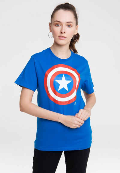 LOGOSHIRT T-Shirt »Marvel Comics« mit Captain America-Logo