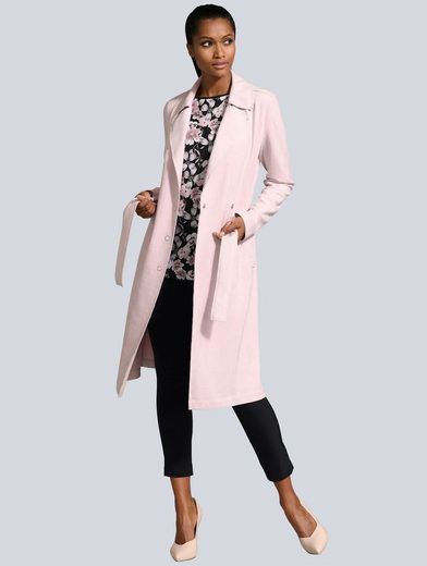 Alba Moda Mantel in modischer Zweireiher Form