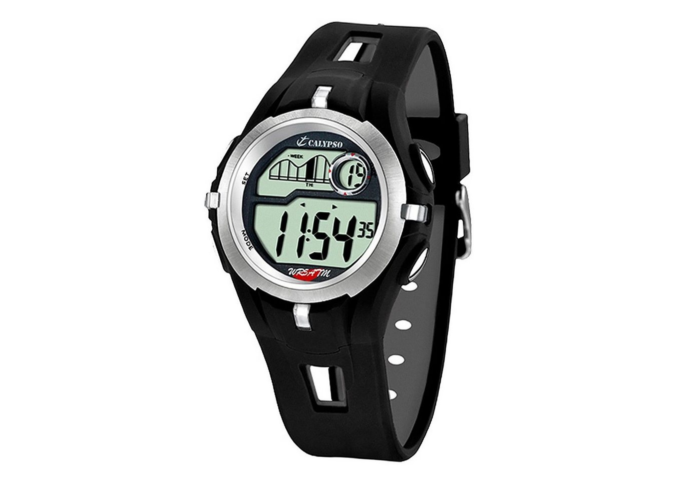 calypso watches -  Digitaluhr »UK5511/1 Calypso Herren Uhr K5511/1 Kunststoffband«, (Digitaluhr), Herren Armbanduhr rund, PURarmband schwarz, Sport