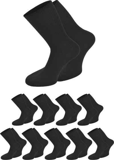 normani Diabetikersocken »10 Paar Berufssocken Ripp« (2er-Set, 10 Paar) hygienisch, geruchshemmend und atmungsaktiv, ohne einschneidendes Bündchen