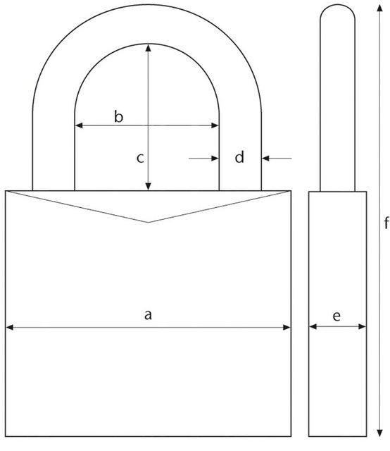 ABUS Vorhängeschloss »37/55 B/DFNLI«