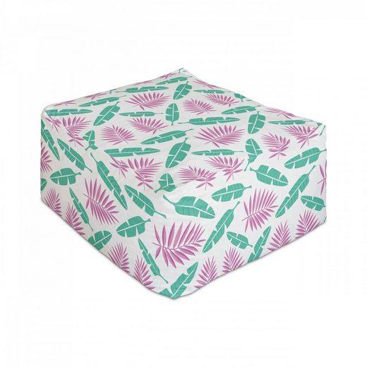 Abakuhaus Pouf »Unter Tisch Fußhocker für Wohnzimmer Büro Ottomane mit Abdeckung«, Garten-Kunst Tropische Pflanzen Palm