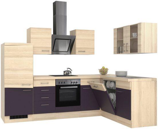 Flex-Well Winkelküche, mit E-Geräten, Stellbreite 280 x 170 cm