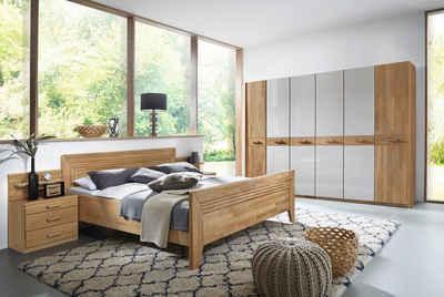 rauch BLACK Schlafzimmer-Set »Vivien«, mit massiver Holzfront und Farbglas Champagner