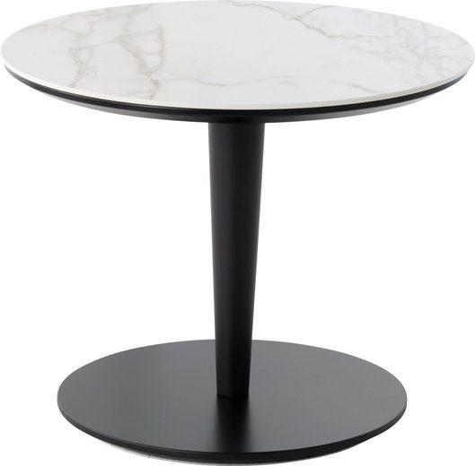 Villeroy & Boch Couchtisch »AMARA«, mit runder Keramik-Tischplatte, Höhe 46 cm