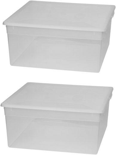 Kreher Aufbewahrungsbox (Set, 2 Stück), Größe XL, 23 l