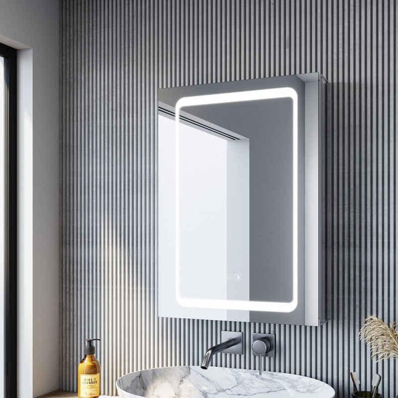 SONNI Spiegelschrank »Bad Badezimmer Spiegelschrank mit LED Beleuchtung« Aluminum