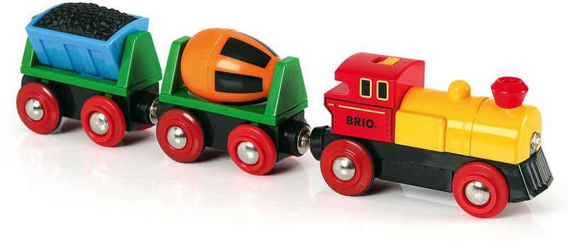 BRIO® Spielzeug-Eisenbahn »BRIO® WORLD Zug mit Batterielok«, mit LichtMade in Europe, FSC® - schützt Wald - weltweit