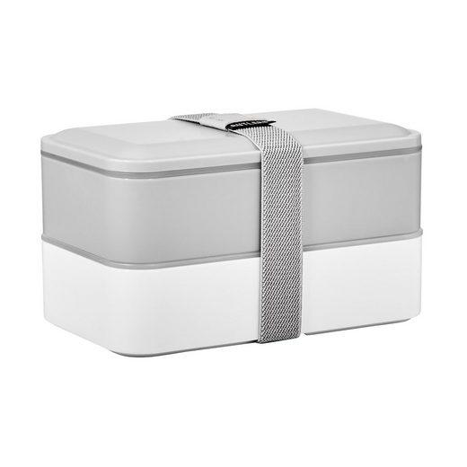BUTLERS Vorratsdose »SNACK PACK Lunchbox inkl. Besteck L 19 x B 11cm«, Polypropylen, Polyethylen, Polystyrene