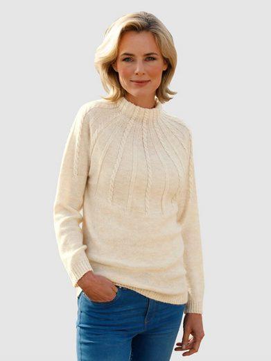 Dress In Stehkragenpullover mit Zopfmusterdetails