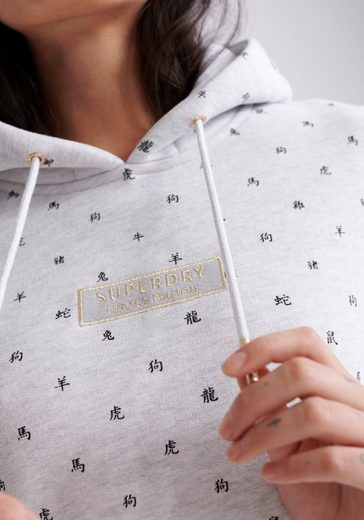 Superdry Kapuzensweatshirt  CNY ZODIAC AOP ENTRY HOOD  British Design Limited Edition