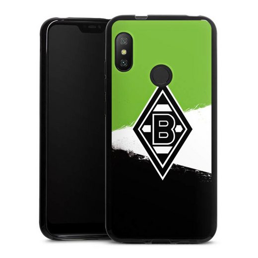 DeinDesign Handyhülle »Borussia Grunge Grün-Weiss-Schwarz« Xiaomi Redmi 6 Pro, Hülle Gladbach Borussia Mönchengladbach
