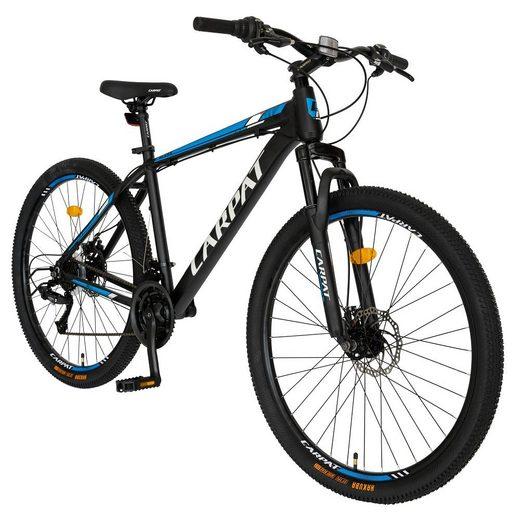 CARPAT Mountainbike »27 Zoll / 29 Zoll Mountainbike Hardtail Fahrrad«, 21 Gang Shimano RL35 Schaltwerk, Kettenschaltung, (mit Aluminiumrahmen), MTB Mechanisches Scheibenbremssystem mit ergonomischer Sattel