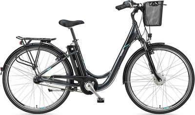 Telefunken E-Bike »Multitalent RC840«, 7 Gang Shimano Nexus Schaltwerk, Frontmotor 250 W, mit Fahrradkorb