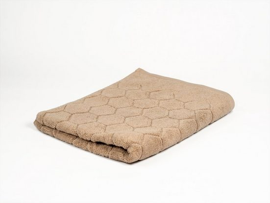 Aymando Handtuch »Hexagon« (1-St), Ökologische, hautfreundliche Handtücher aus reiner BIO Baumwolle, umweltfreundlich, Made in Egypt, 50x90, Sandbeige