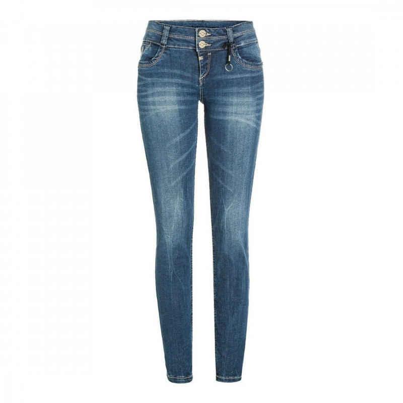 TIMEZONE Slim-fit-Jeans »Slim Enya« Blau