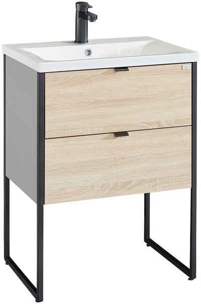 OTTO products Waschtisch »Netta«, Waschtisch Badmöbel in Breite 60 cm