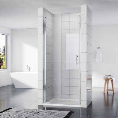 SONNI Dusch-Drehtür »Nischentür Duschkabine Duschabtrennung Duschtür Nano Glas«