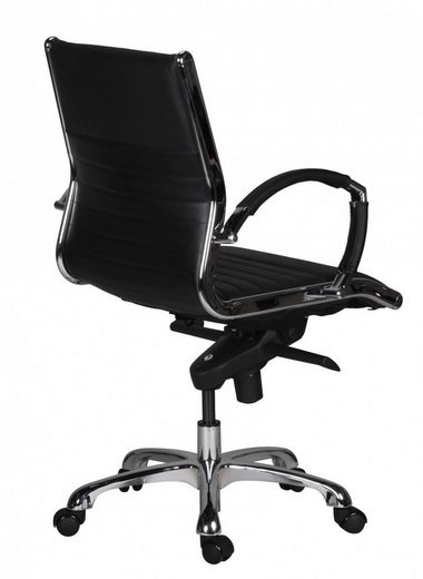 Amstyle Drehstuhl »SPM1.235« Bürostuhl SALZBURG 2 Bezug Echtleder Schreibtischstuhl Schwarz XXL 120kg Chefsessel höhenverstellbar Drehstuhl
