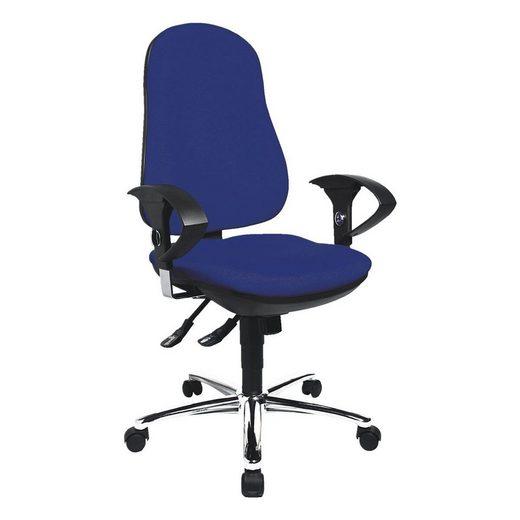 TOPSTAR Schreibtischstuhl »Support Deluxe«, mit Armlehnen und Bandscheibensitz