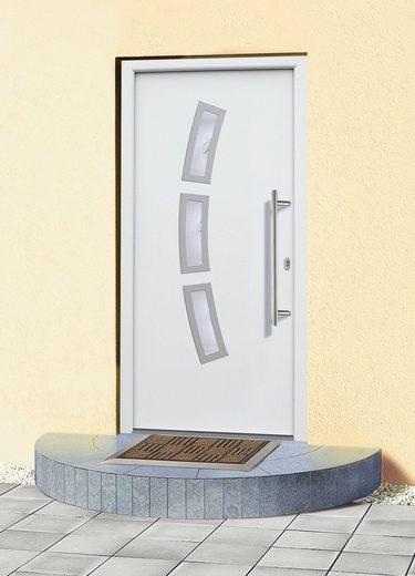 KM MEETH ZAUN GMBH Aluminium-Haustür »A07«, BxH: 108x208 cm, weiß, in 2 Varianten